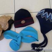 шапки варежки шарфи 4-7років зима весна