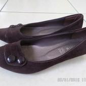 балетки туфлі 38р. шоколадного кольору