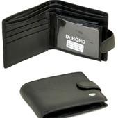 Мужской кожаный кошелек портмоне Dr.Bond маленький