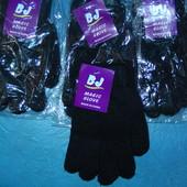 Новые черные перчатки с начесиком,женские,можно и на подростков-мальчиков