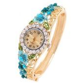 Часы наручные женские с австрийскими кристаллами код Ч144