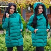 Тёплая зимняя куртка на холофайбере! Супер цена! Размер 48-58! Разные цвета