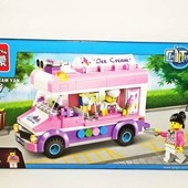 Конструктор  Brick 1112 Машина - мороженое, брик