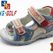 Распродажа остатков! Кожаные босоножки Jong Golf, 21-22рр
