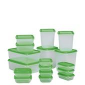 Набор пищевых контейнеров  17 шт. от  Ikea (Швеция) судки для заморозки судочки холодильник