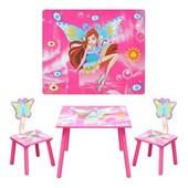 Столик + 2 стульчика D 11551 Винкс