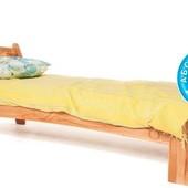 Кровать детская из дерева Б-12 с высокой задней спинкой