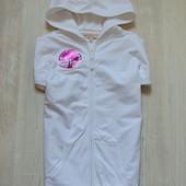 Стильная белоснежная кофта на молнии с капюшоном для девочки. M&S. Размер 11-12 лет.