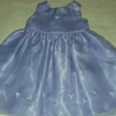 Пышное нарядное платье Next как новое на 3-12 месяцев