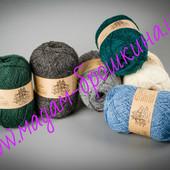 Пряжа , нитки  украинского производителя ТМ Vivchari «Semi-wool (Напівшерсть)».