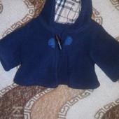 Пальто, накидка, кардиган в стиле Бербери для малюсенькой собачки. Новая