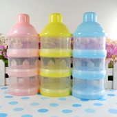 Контейнер для хранения еды малыша во время прогулки, жёлтый,голубой