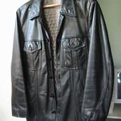 кожаный пиджак теплый S США