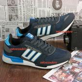 Мужские кроссовки в стиле Adidas zx750 . отличное качество, дизайн и комфорт, темносиние