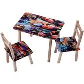 Стол деревянный + 2 стула серии Тачки
