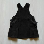 Стильный вельветовый сарафан для девочки. Zara. Размер 12-18 месяцев. Состояние: новой вещи.