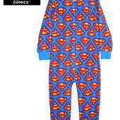 Сдельная пижама слип, человечек микрофлис Супермен США на 4-5 лет