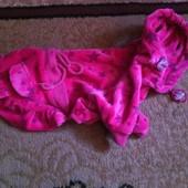 Велюровое платье для мини собачки.