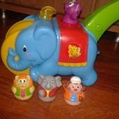 "Игрушка - каталка ""Слон - циркач""  Kiddieland"