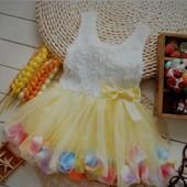 Детское нарядное платье, 1,5 - 2 года, 3 цвета, новое