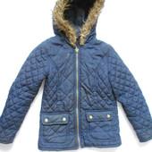 Синяя стеганная куртка 5-6 лет