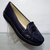 Туфли синие и черные комфорт