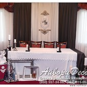 Оформление Шоколадной свадьбы. Свадебный декор, банкетный зал, букет невесты, флористика, аксессуары
