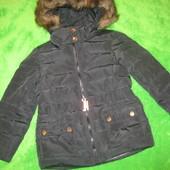 пуховая куртка Zara на 6-7лет