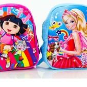 Рюкзак Даша и Барби 32 на 25 см 3Д картинка