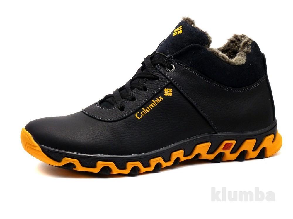 14a1b89af967 Ботинки columbia track ii, кожа на меху, черные, р. 40-45, зима ...