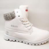 Ботинки зимние белые С526