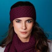 Шикарный комплект (повязка + шарф) от тсм Tchibo Германия размер универсальный