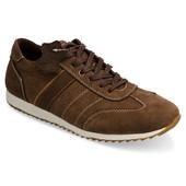 Мужские кроссовки коричневого цвета из натуральной кожи