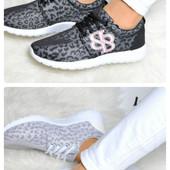 Женские кроссовки сникерсы черного цвета и серого цвета