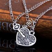 Винтажная подвеска сердце и ключа к нему