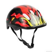 Детский защитный шлем Пламя 120 для велосипедов роликов самокатов беговелов