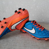 Бутсы кожаные Nike Tiempo р.41