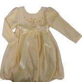 Платье велюровое для девочки. Размеры 86,92,98,104,110,116