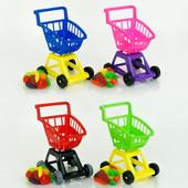 Тележка с корзиной для супермаркета с набором овощей и фруктов Орион 693в.3 ролевые игры