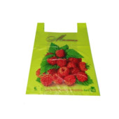 Пакет-майка  45*25,зеленый,розовый, жёлтый фрукты клубника 50шт.УП+10грн.