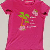 H&M. Яркая футболка с принтом пальмы. Хлопок.