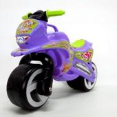 Мотоцикл беговел Киндер Вэй пластиковый фиолетовый 11-006 Kinder Way Violet