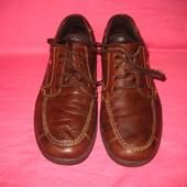 Кожаные фирменные туфли Walking (Made in Bosnia) - 44 размер