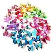 3D бабочки наклейки на стену,потолок. декор.