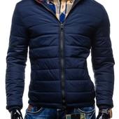 Дутая зимняя куртка на синтепоне