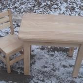Дитячий комплект стіл + стілець з ясена. Стол стул. Ручна робота!!!