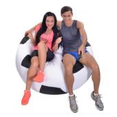 Кресло-мяч 130 см из ткани Оксфорд черно-белое