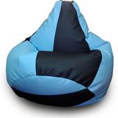 "Кресло-груша 120х90 см из эко-кожи ""арбузик"""