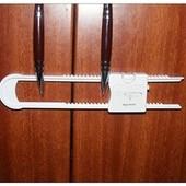 Блокиратор для створчатых дверей с двумя ручками.