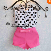 Комплект блуза и шорты (роз) 420002